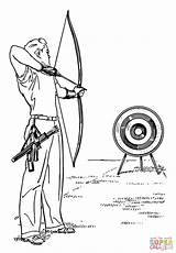 Archery Coloring Pages Printable sketch template