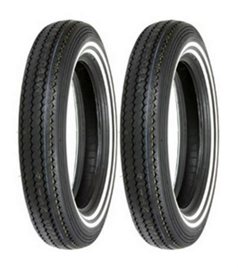 2 shinko mt90 16 classic 240 stripe white wall front rear tire set