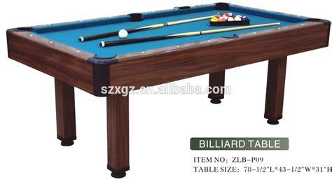 Sizes Of Pool Tables Homeware Regulation Billiards Table