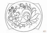Painting Coloring Petrykivka Pattern Patterns Supercoloring Printable sketch template