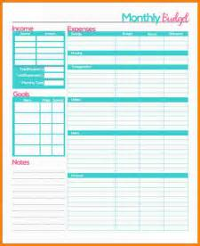 Resume Cover Sheet Template 4 Monthly Budget Planner Worksheet Monthly Bills Template