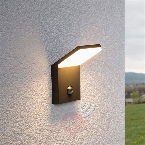 led outdoor wall light nevio with motion detector buy