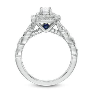 vera wang love collection  ct tw emerald cut diamond