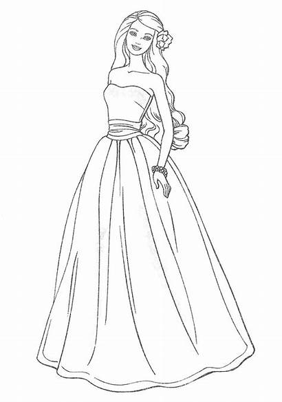 Prom Drawing Coloring Dresses Pages Getdrawings