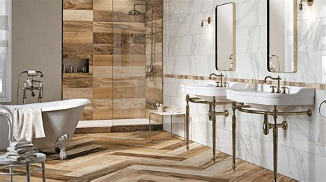 Wood Tiles In Bathroom by Choosing Wood Look Porcelain Tiles As A New Option For