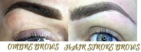ombre  hair stroke brows    permanent