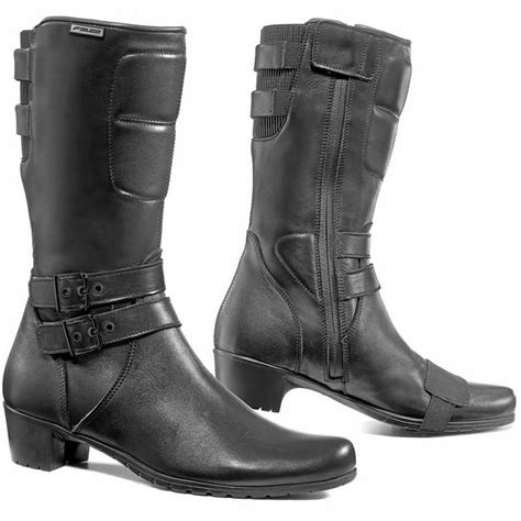 ladies black motorcycle boots falco dyva ladies motorcycle waterproof breathable heeled