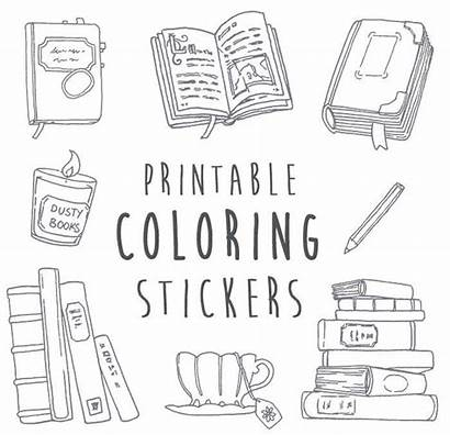 Coloring Stickers Printable Nanowrimo Writing Planner Books