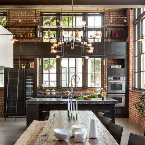 industrial style wohnen industrial bei houzz loft style wohnen dank industrial chic industrial style in 2019 k 252 chen