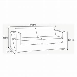 3 seat sofa size standard 3 seater sofa size inspiration for Sofa bed measurements