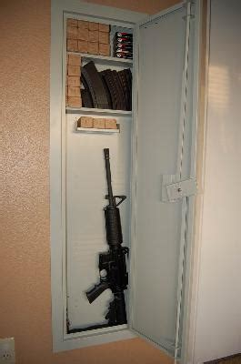 Stack On In Wall Gun Cabinet - best gun safes for apartments keep your valuables secure