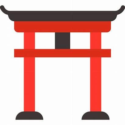 Icon Torii Japan Gate Icons Landmark Asia