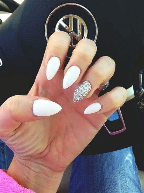 white stiletto nails pictures   images