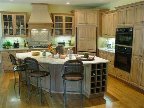 Design Of Kitchen Room by Corner Refrigerator With Center Inland Curio Kitchen