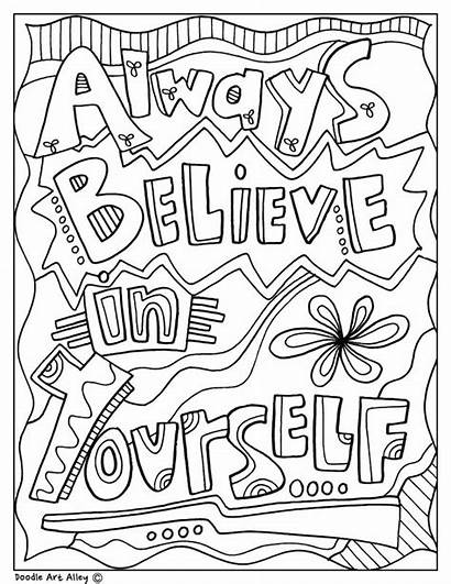 Coloring Pages Inspirational Doodles Classroom Quotes Believe