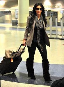 Kim Kardashian Photos Photos Kim And Kourtney Kardashian Arriving On A Flight At LAX | Kourtney ...