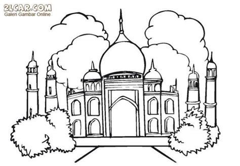 contoh gambar lomba mewarnai masjid anak paud
