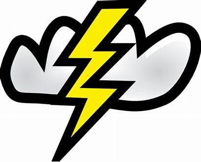 Clip Thunder Storm Lightning Clipart Cloud Bolt