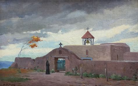 mexico church mexican paintings oil hugo pohl texas 1387 artist arts pro
