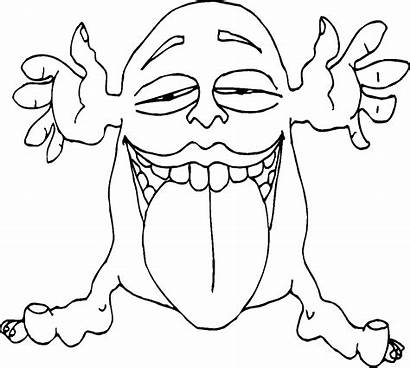 Monster Coloring Monsters Pages Drawing Printable Colour