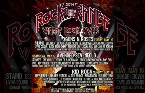 rock on the range 5 bands you absolutely must see at rock on the range this weekend features alternative press