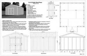 12x12 gable storage shed plans buy it now get it fast ebay