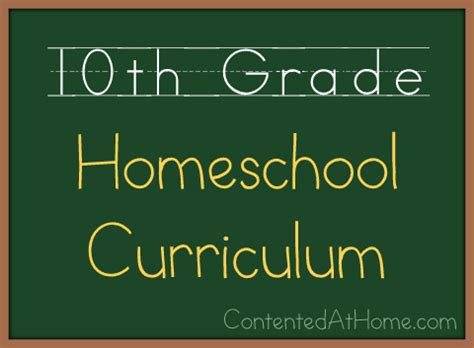 Tenth Grade Homeschool Curriculum {20132014}  Contented At Home