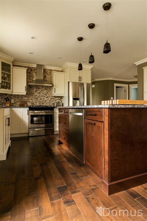 hardwood or tile in kitchen kitchen with hardwood flooring and backsplash tiles 7012