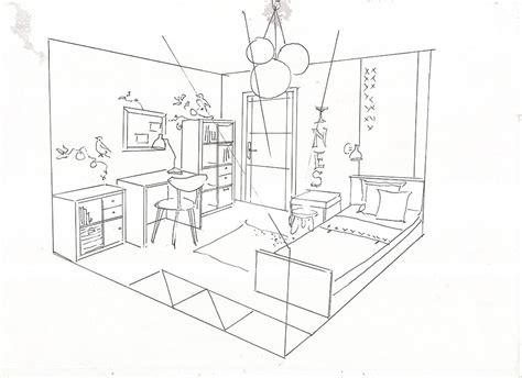 chambre en perspective dessin comment dessiner une chambre des idées novatrices sur la