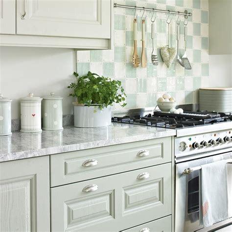 pale green kitchen pale green kitchen with chequerboard splashback 1405