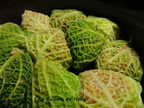 cuisine choux feuilles de chou farcies la cuisine de nelly