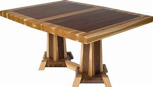 Dining Table: Mixed Wood Dining Table
