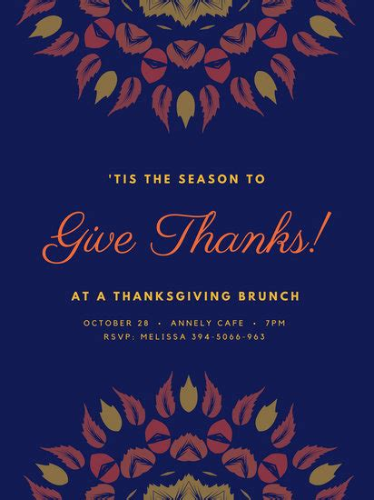 customize  thanksgiving poster templates  canva