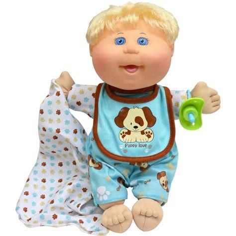 "Cabbage Patch Kids Naptime Babies 12 5"" Doll Blonde Boy"