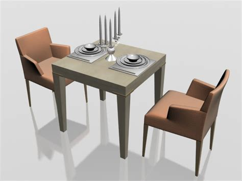 two seater dining set 3d model 3dsmax files free