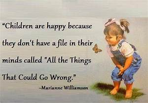 Thought for the day; Children are happy because