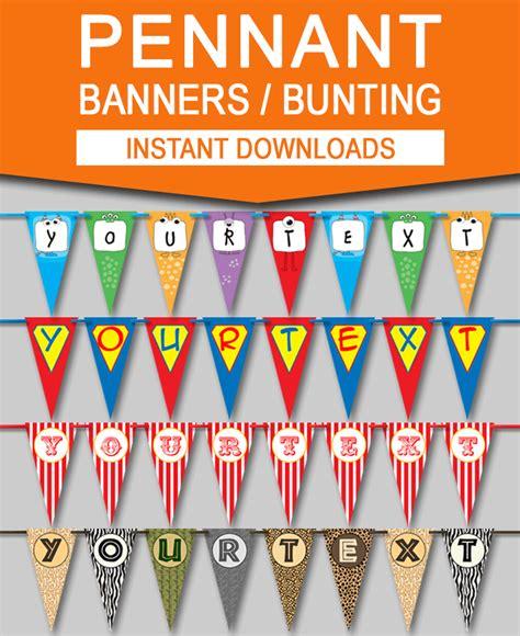 diy pennant banner templates diy party bunting