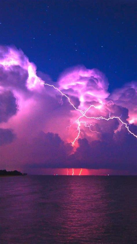 purple lightning wallpaper