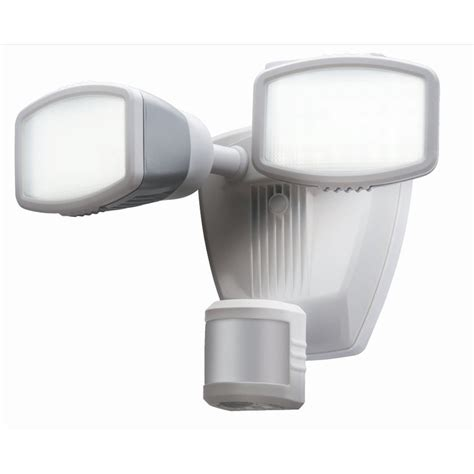 led security light lowes shop secure home 240 degree 2 head dual detection zone