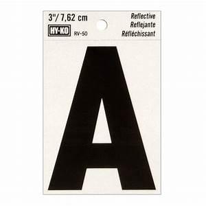 3quot reflective vinyl letter a walmartcom With 3 vinyl letters