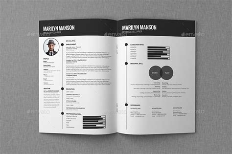 Portfolio Cv by Resume Cv Portfolio Design