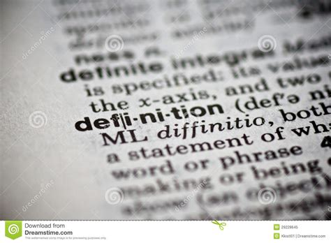 Word Definition In The Dictionary Stock Image