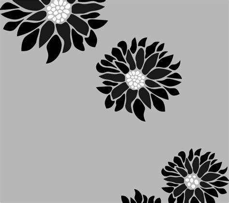 Buy large sunflower stencil for walls