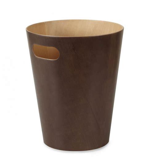 bureau bois foncé corbeille à papier de bureau en bois marron foncé umbra