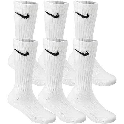 The next day he panicked because there were only 5 pairs in his package. 3 Pair LOT NIKE White Socks CREW Size M - Shoe size 6-8 Men's Women | eBay