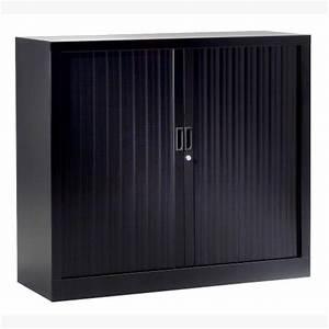 Petit Bureau Noir : petite armoire en m tal avec rideaux armoire de bureau noir ~ Teatrodelosmanantiales.com Idées de Décoration