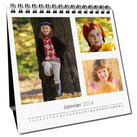 calendrier bureau photo calendrier de bureau personnalisé a créer avec vos