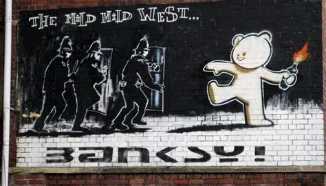 christmas shopping pic banksy graffiti mild mild west visit bristol