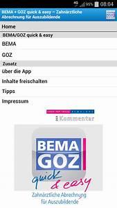 Bema Abrechnung : bema goz f r azubis android apps on google play ~ Themetempest.com Abrechnung