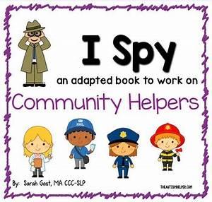 Kindergarten Community Unit I Spy Community Helpers An Adapted Book For Children